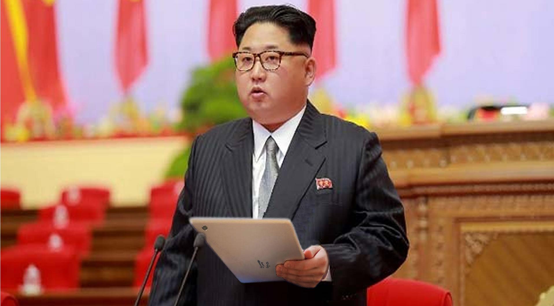 Kim Jong Un mit Tablet-PC